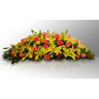 Bouquet de liliums y rosas