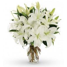 Florero de liliums perfumadas